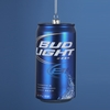 "Item # 103186 - 4.75"" Glass Bud Light Beer Can Christmas Ornament"