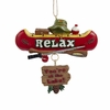 "Item # 103285 - 3.5"" Resin Canoe Sign Christmas Ornament"
