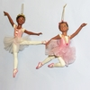 "Item # 103373 - 5-6.5"" Resin African-American Ballerina Christmas Ornament"