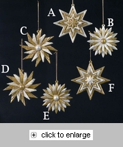 Item # 103440 - Gold/Silver Sunflower/Star Christmas Ornament