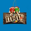 "Item # 103470 - 3.5"" Red/Green M&Ms With Bag Christmas Ornament"