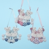 "Item # 103519 - 3.5"" Baby's First Christmas Twin Bears In Stockings Ornament"
