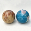 "Item # 103571 - 4"" Plastic Tan/Blue Earth Globe Christmas Ornament"