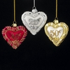 "Item # 103658 - 3.5"" Glass Anniversary Heart Ornament"