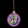 "Item # 103662 - 3"" Glass Noble Gems Peace Ornament"