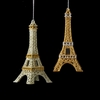 "Item # 103726 - 5.75"" Glittered Platinum/Gold Eiffel Tower Christmas Ornament"