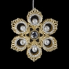 "Item # 103739 - 4"" Acrylic Glittered Gold/Silver Snowflake Ornament"