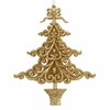 "Item # 103819 - 6"" Acrylic Glittered Gold Tree Christmas Ornament"
