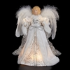 Item # 103901 - White/Silver Angel Tree Topper With 10 Lights