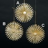 Item # 104090 - Gold/Silver Burst Snowflake Ornament