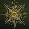 "Item # 104101 - 8"" Wire Gold Burst Snowflake Ornament"
