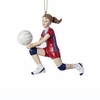 "Item # 104188 - 4.5"" Resin Volleyball Girl Christmas Ornament"