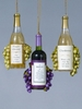 Item # 104229 - Wine Bottle and Grapes Christmas Ornament