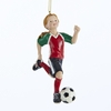 "Item # 104243 - 4"" Resin Soccer Girl Christmas Ornament"
