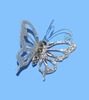 "Item # 104251 - 5"" Acrylic Silver Butterfly Christmas Ornament"