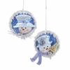 "Item # 104295 - 4"" Frosted Kingdom Snowman Ornament"