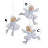 """Item # 104297 - 3.75"""" Frosted Kingdom Girl Ice Skater Christmas Ornament"""
