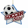 "Item # 104388 - 4"" Resin Soccer Star Christmas Ornament"