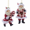 "Item # 104421 - 4"" Resin Santa With Candy Ornament"