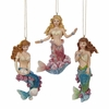 "Item # 104430 - 4"" Mermaid Christmas Ornament"