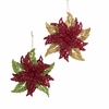 "Item # 104540 - 4"" Acrylic Glittered Poinsettia Christmas Ornament"