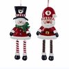 "Item # 104612 - 6.5"" Claydough Dangle Leg Snowman/Santa Ornament"