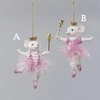 Item # 104624 - Pink Ballerina Mouse Christmas Ornament