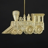 Item # 104736 - Platinum/Champagne Train Christmas Ornament