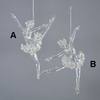 Item # 104826 - Clear/Silver Ballet Dancer Christmas Ornament