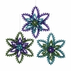 Item # 104873 - Green/Purple/Blue Snowflake Ornament