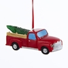 "Item # 104876 - 4"" Resin Battery Operated LED Pickup Truck With Christmas Tree Christmas Ornament"