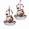 "Item # 104877 - 4"" Resin Gingerbread House Christmas Ornament"