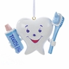 "Item # 104888 - 3"" Resin Tooth With Brush Christmas Ornament"