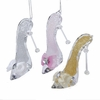 "Item # 104894 - 3.25"" Acrylic High Heel Shoe With Bow Christmas Ornament"