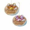 "Item # 104895 - 4"" Sea-Sons Greetings Beach Christmas Ornament"