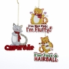 "Item # 104927 - 3.5-3.75"" Resin Cat Ornament"