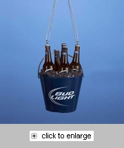 Item # 104973 - Bud Light Bucket Cooler Christmas Ornament