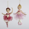 "Item # 105054 - 4.25"" Resin Ballet Girl Christmas Ornament"