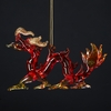 Item # 105084 - Glass Red Oriental Dragon Ornament