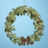 "Item # 105241 - 5"" Acrylic Green Wreath Christmas Ornament"