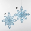 "Item # 105247 - 5.5"" Blue/White Snowflake Ornament"