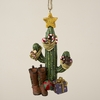Item # 105290 - Resin Cactus With Boots/Gifts Christmas Ornament