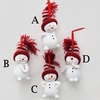 "Item # 105355 - 2.75"" Resin Snowman Ornament"