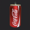 "Item # 105366 - 4.75"" Glass Coca-Cola Can Christmas Ornament"