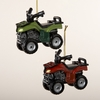 "Item # 105393 - 3.5"" Resin Green/Red ATV Ornament"