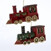 "Item # 105407 - 4.7"" Plastic Train Ornament"