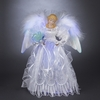 "Item # 105494 - 12"" White/Silver Fiber Optic Angel Christmas Tree Topper"