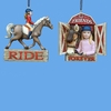 Item # 105549 - Girl & Horse Christmas Ornament