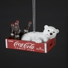 Item # 105564 - Polar Bear Cub In Coca-Cola Crate Christmas Ornament