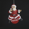 Item # 105565 - Coke Santa Sitting On Cap Ornament